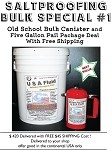 FREE SHIPPING BULK COMBO SPECIAL ORDER USA Fluid 5 Gallon Container and Canister